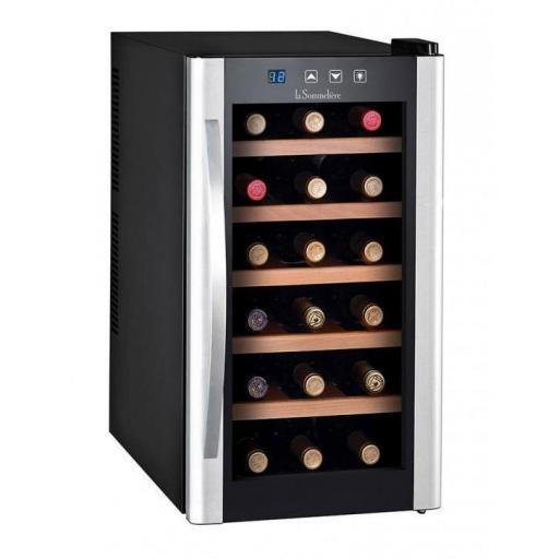 La Sommeliere - LS18KB - Single Zone Wine Cellar / Wine Cooler - 18 Bottles - 345mm Wide