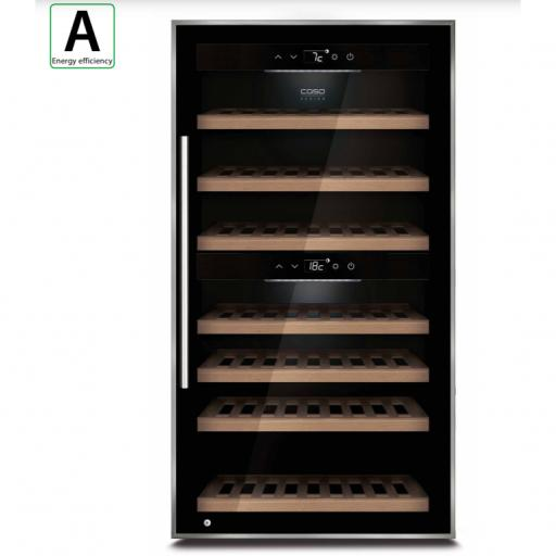 Caso - WineComfort 66 - Dual Zone Wine Cooler - 66 bottles - Black - 595mm Wide