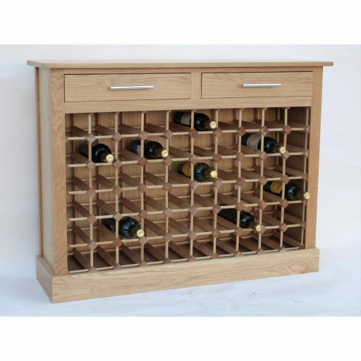 60 Bottle wine cabinet with drawers