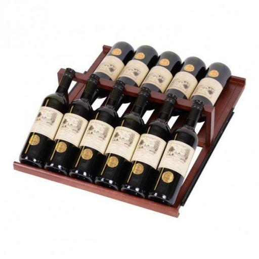 Display shelf in dark lacquered Wood for Pevino P168D - winestorageuk
