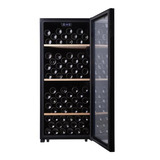 Cavecool Chill Sapphire Wine Fridge - 121 bottles - Single zone wine cooler - Black