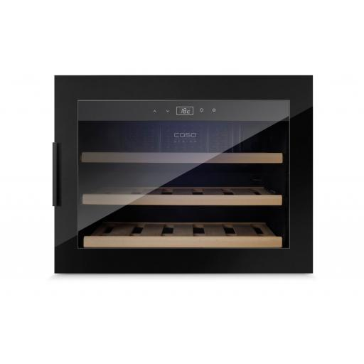 CASO WineSafe 18 EB Black - Integrated Wine Cooler / Wine Fridge - Single Zone - 18 Bottles - 560mm Wide